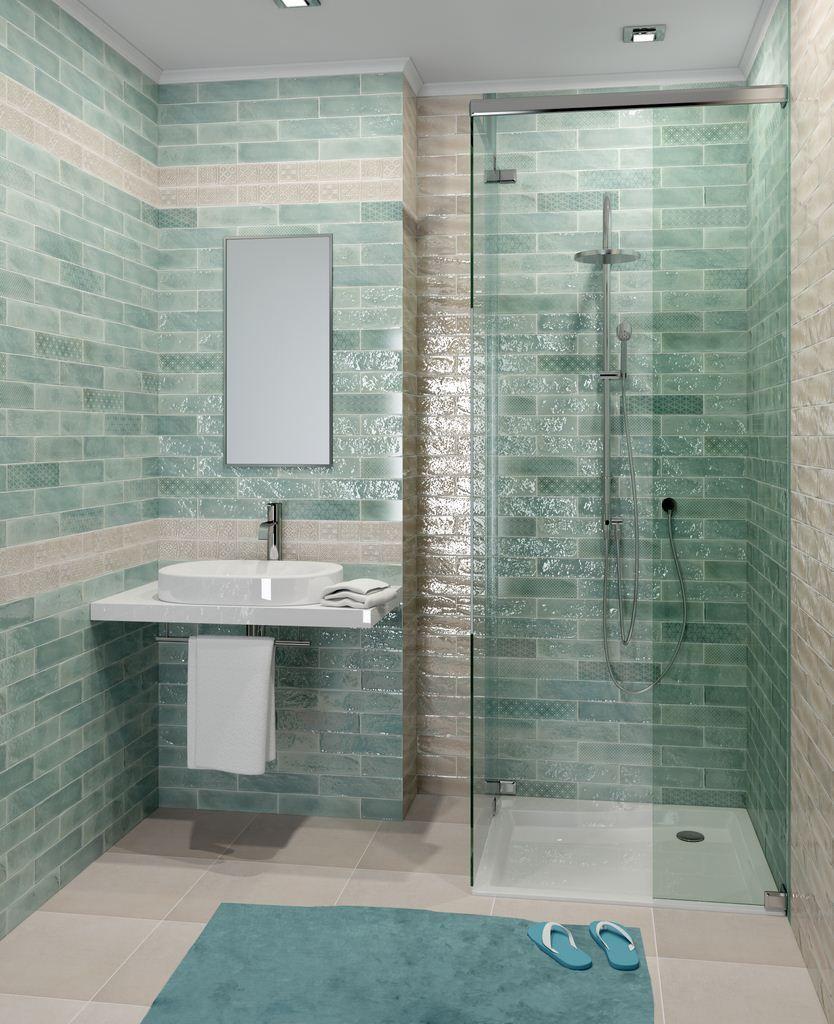 Cifre Opal Emerald 7 5 X 30 Cm Burkolatbolt Com Beach Bathroom Decor Bathroom Decor Bathroom Decor Colors