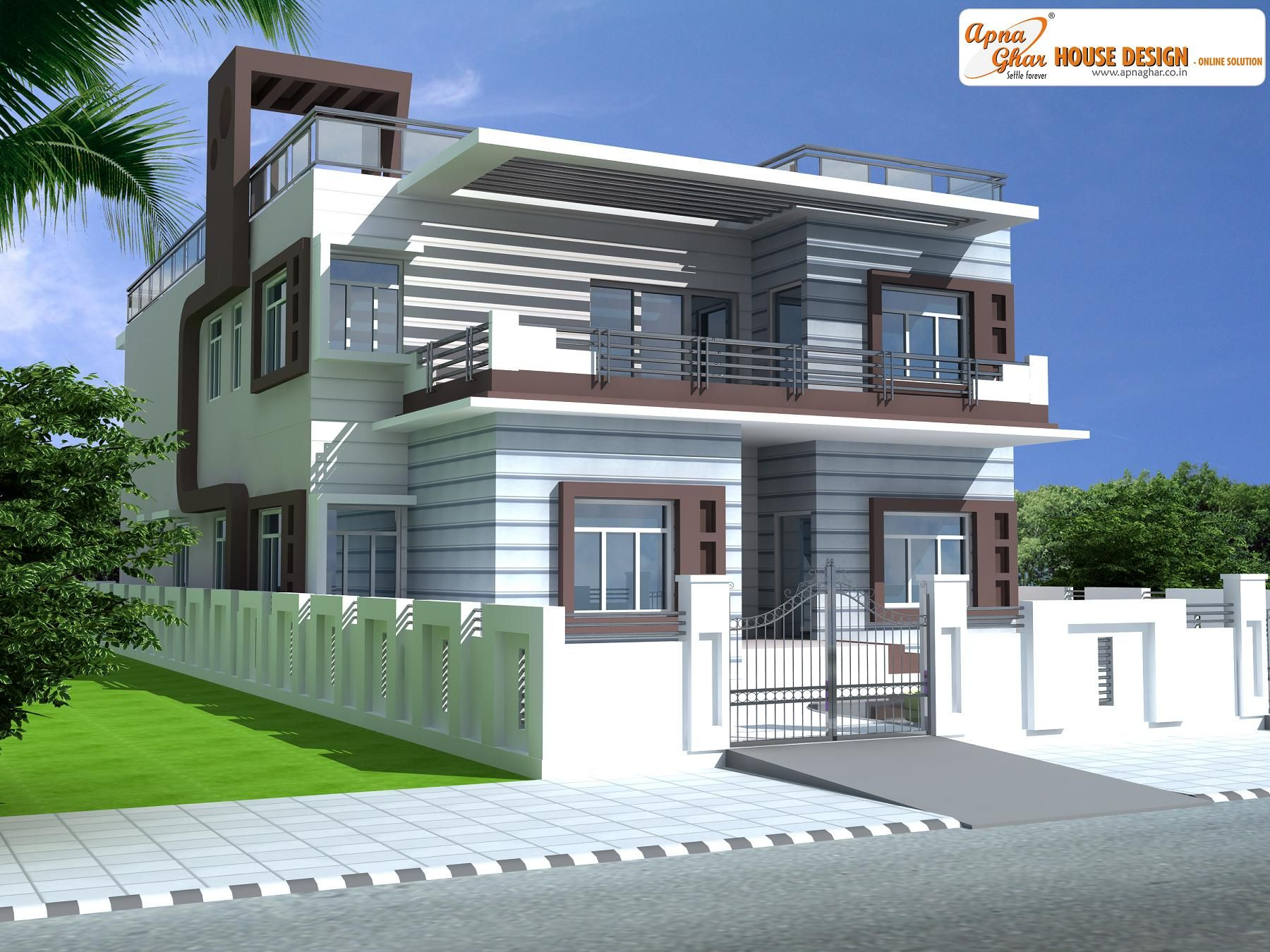 Duplex (2 floors) home.Click on this link (http://www.apnaghar.co ...
