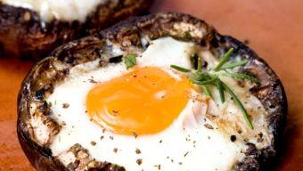 Portobellas Breakfast. Yum!