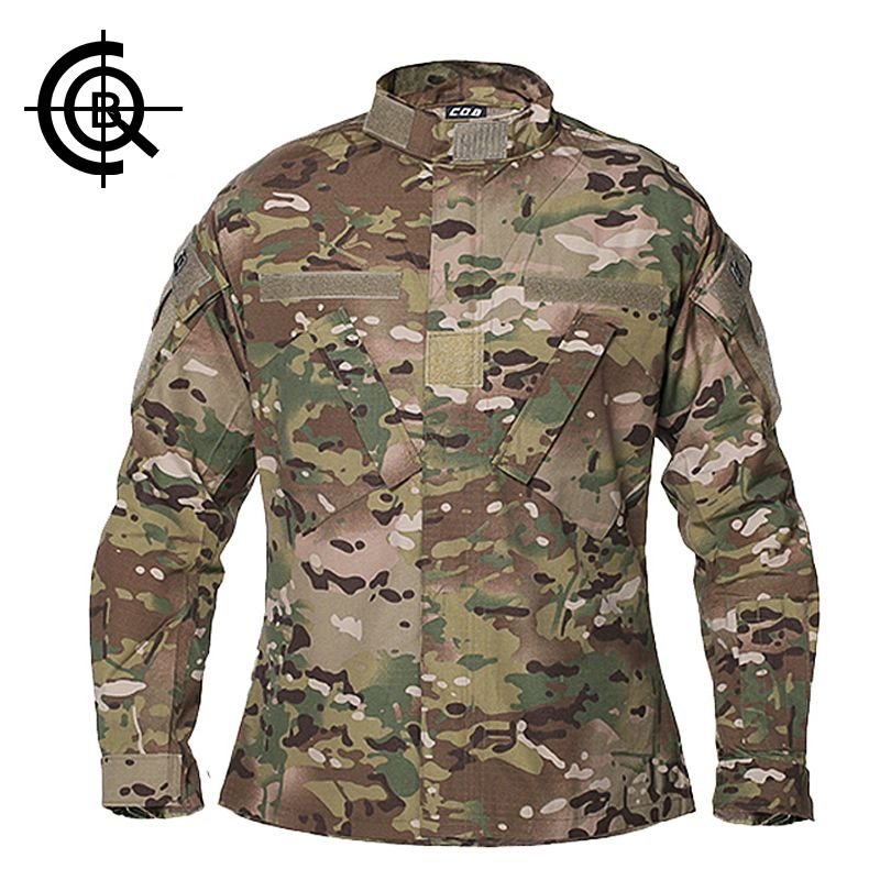 CQB Outdoor Tactical Jacket Camouflage Coat US Army Wear Training Uniform Men Hiking Windproof Camping Clothes