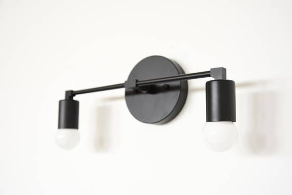 Modern Bathroom Lighting, Modern Bathroom Light Fixtures Black And White
