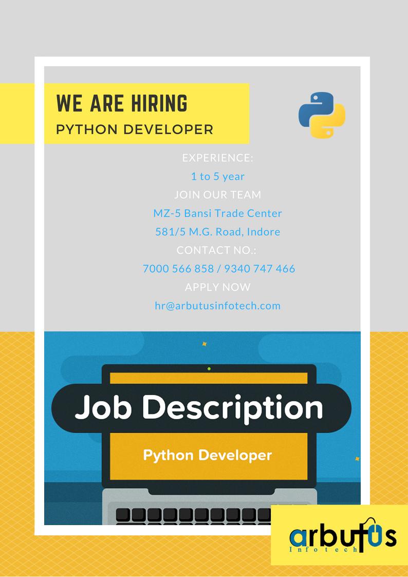 Python Developer Help Wanted Ads Job Poster Hiring Poster