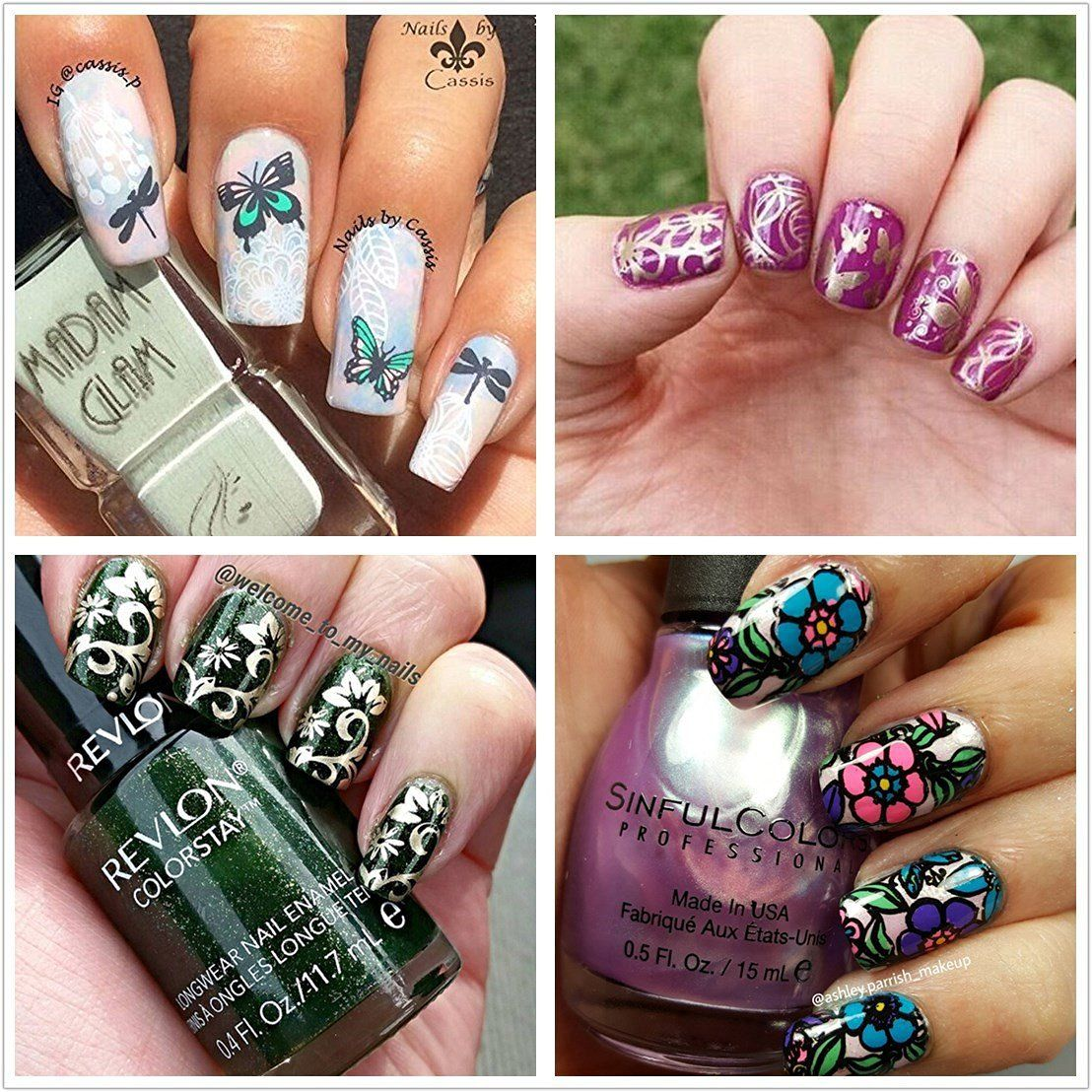 Ejiubas Double-Sided Nail Art Image Manicure Stamping Plates ...