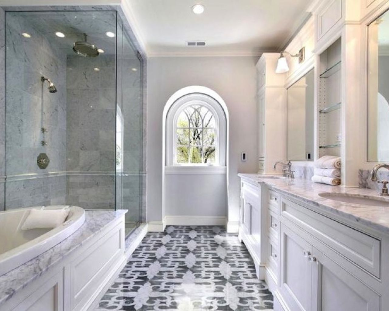 Tile Flooring 30 Ideas About Marble Bathroom Tiles Pros And Cons Mosaic Floor Interesting
