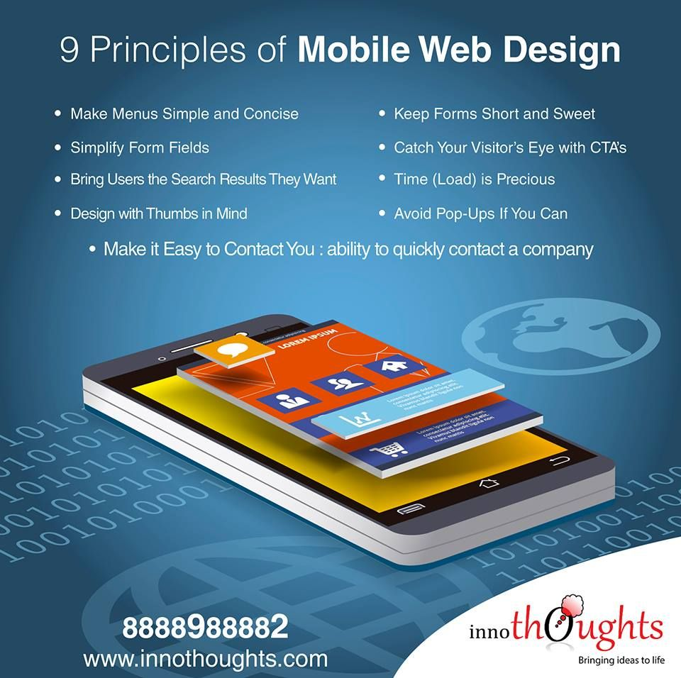 9 Principles of Mobile WebDesign Mobile web design