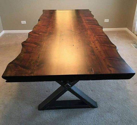 Live Edge Table With Metal Legs