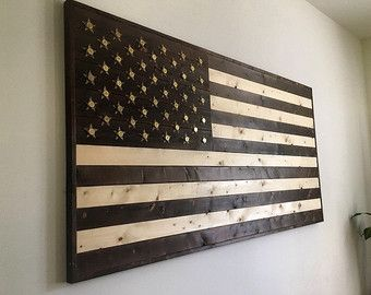 Wood American Flag Wall Art american flag made from reclaimed wood and expended shotgun shell