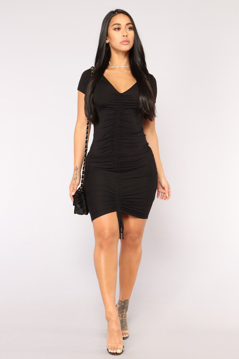 536c82952bc Forbidden City Ruched Dress - Black in 2019 | LBD♧ | Dresses ...