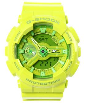 2949510e6 G-Shock by Casio - Glossy Neon Green Gmas-110 - G Shock S Series Watch