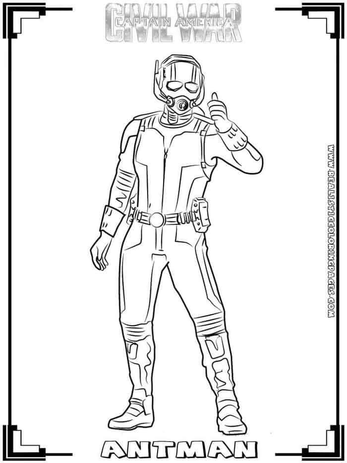 Ant Man Coloring Page Collections 2020 Captain America Winter