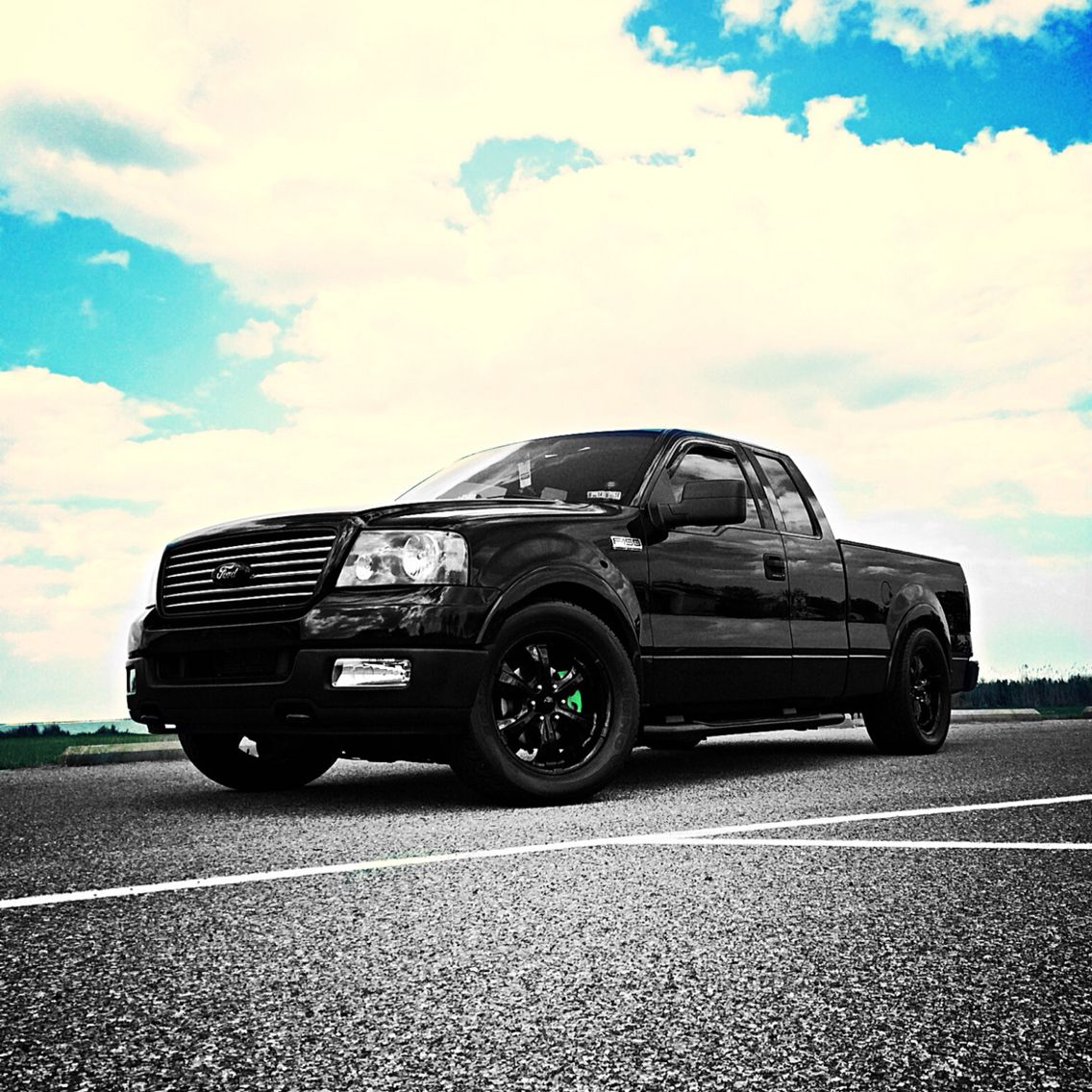 Custom 2004 Ford F 150 Slammed And All Blacked Out This Truck Is My Baby