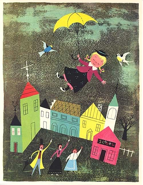 1950s Illustration by Alice and Martin Provensen, from A Child's Garden of Verses
