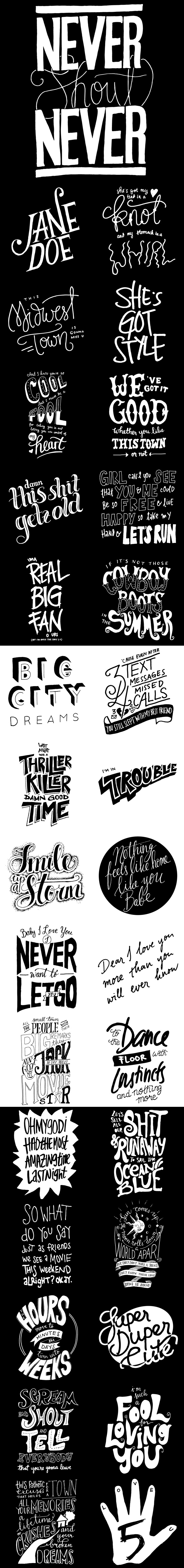 Our Nevershoutnever Inspired Lettering Pieces Available As T
