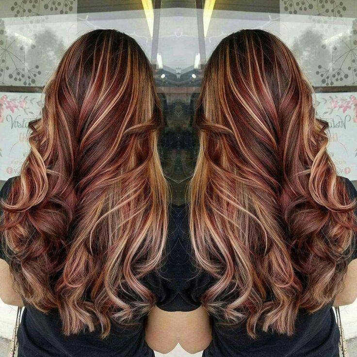 Red Lowlights Blonde Highlights Brown Blonde Hair Brown Hair With Blonde Highlights Red Highlights In Brown Hair