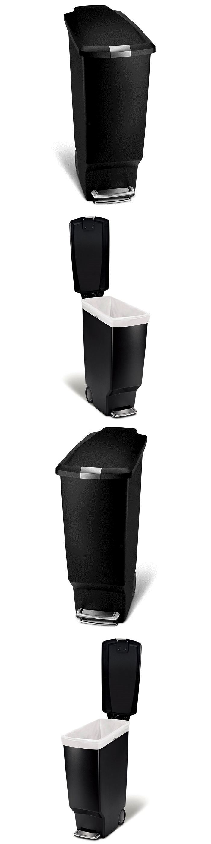Trash Cans And Wastebaskets Prepossessing Trash Cans And Wastebaskets 20608 Black Step Trash Can Plastic 2018