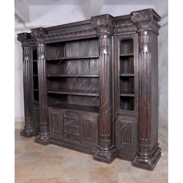 Old World Bookcase Wooden Bookcase Bookcase Fine Furnishings