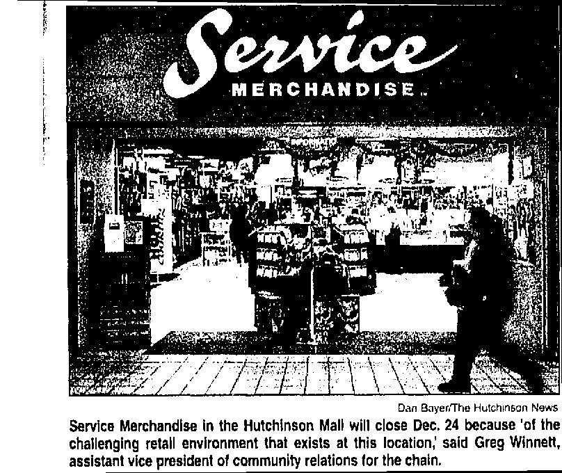 A short newspaper article on Service Merchandise Service