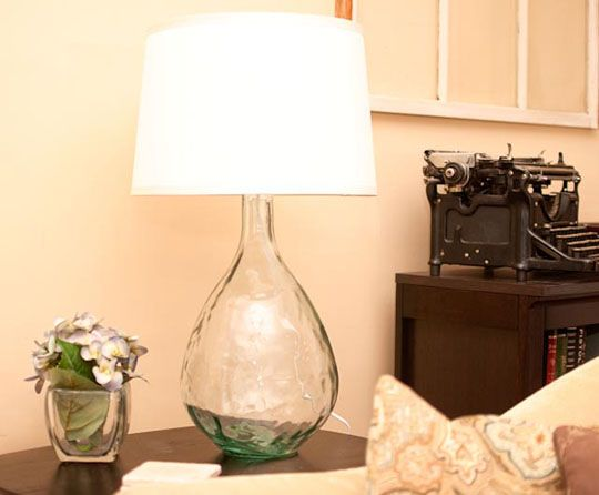 Turning A Glass Vase Into A Gorgeous Lamp Glass Crafty And Craft