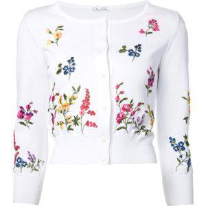 Oscar De La Renta Floral Embroidered Cardigan. Love! Love! Love!