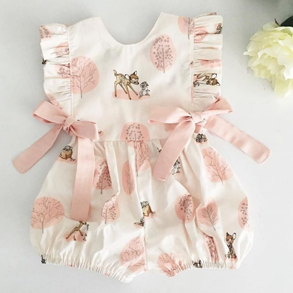 Newborn Infant Baby Girl Boy Sleeveless Floral Romper Jumpsuit Clothes Outfits