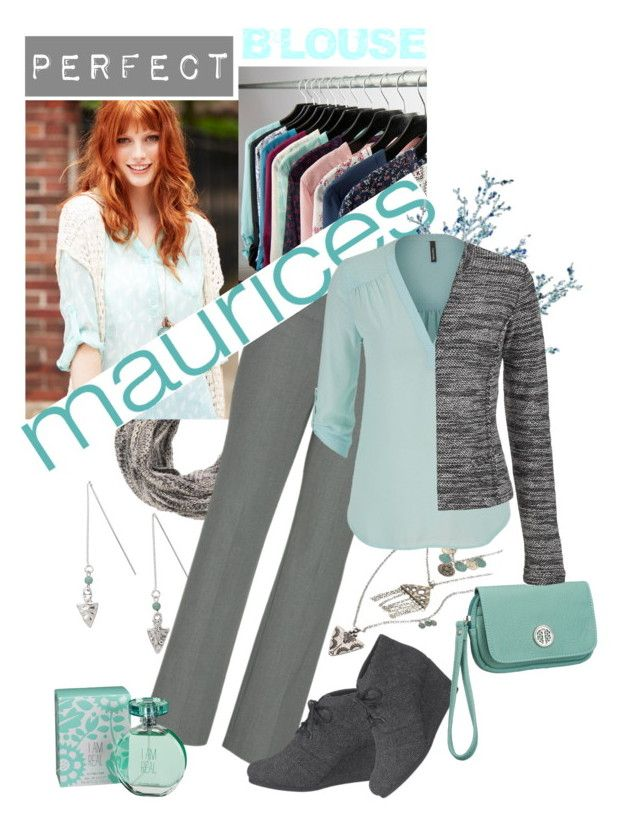 """The Perfect Blouse with maurices: Contest Entry"" by iraavalon ❤ liked on Polyvore featuring maurices"