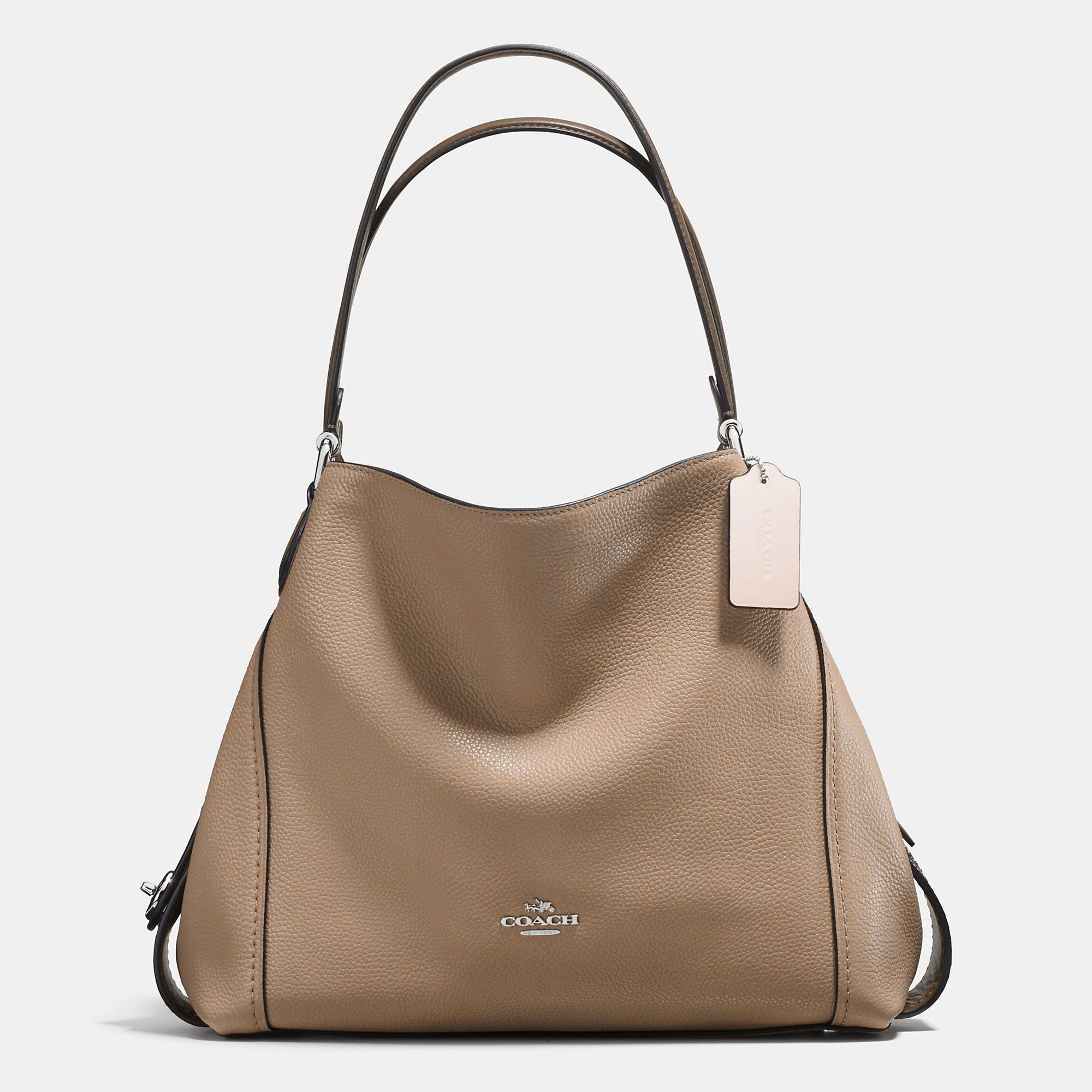 COACH: Colorblock Edie Shoulder Bag 31 In Mixed Materials