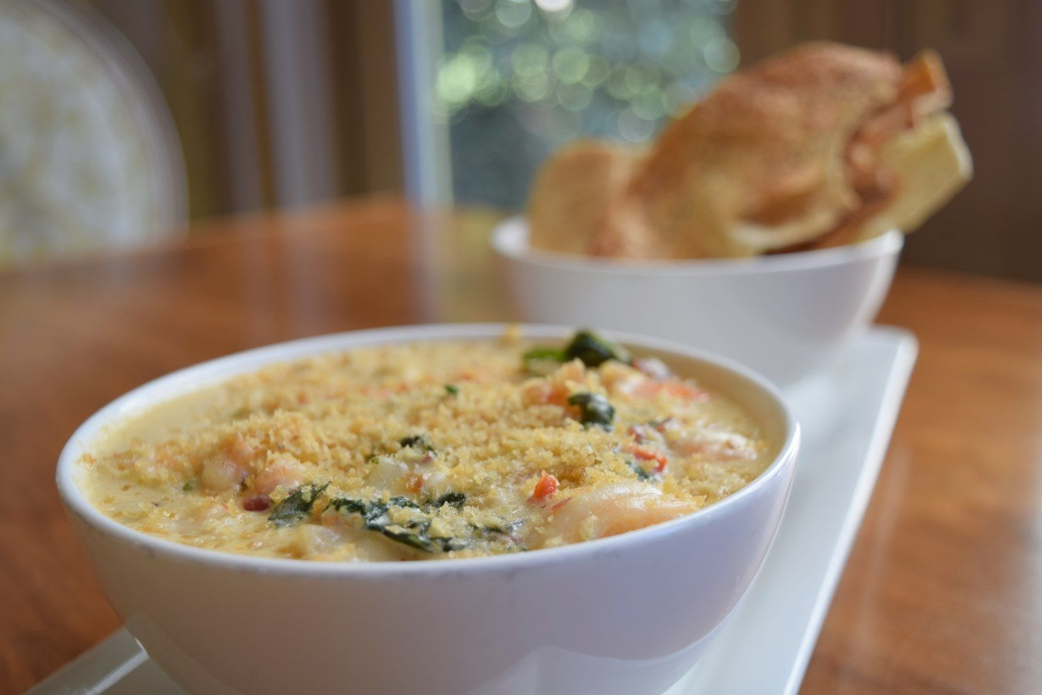 Shrimp Artichoke Bacon Dip With Baby Kale And Poppy Seed Crisps Print Works Bistro Greensboro Nc Bacon Dip Bistro Restaurant Food