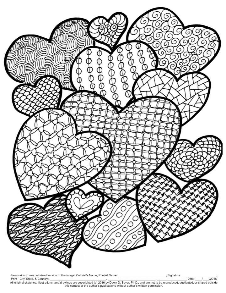 Hearts coloring sheet | Coloring | Pinterest | Mandala and Embroidery