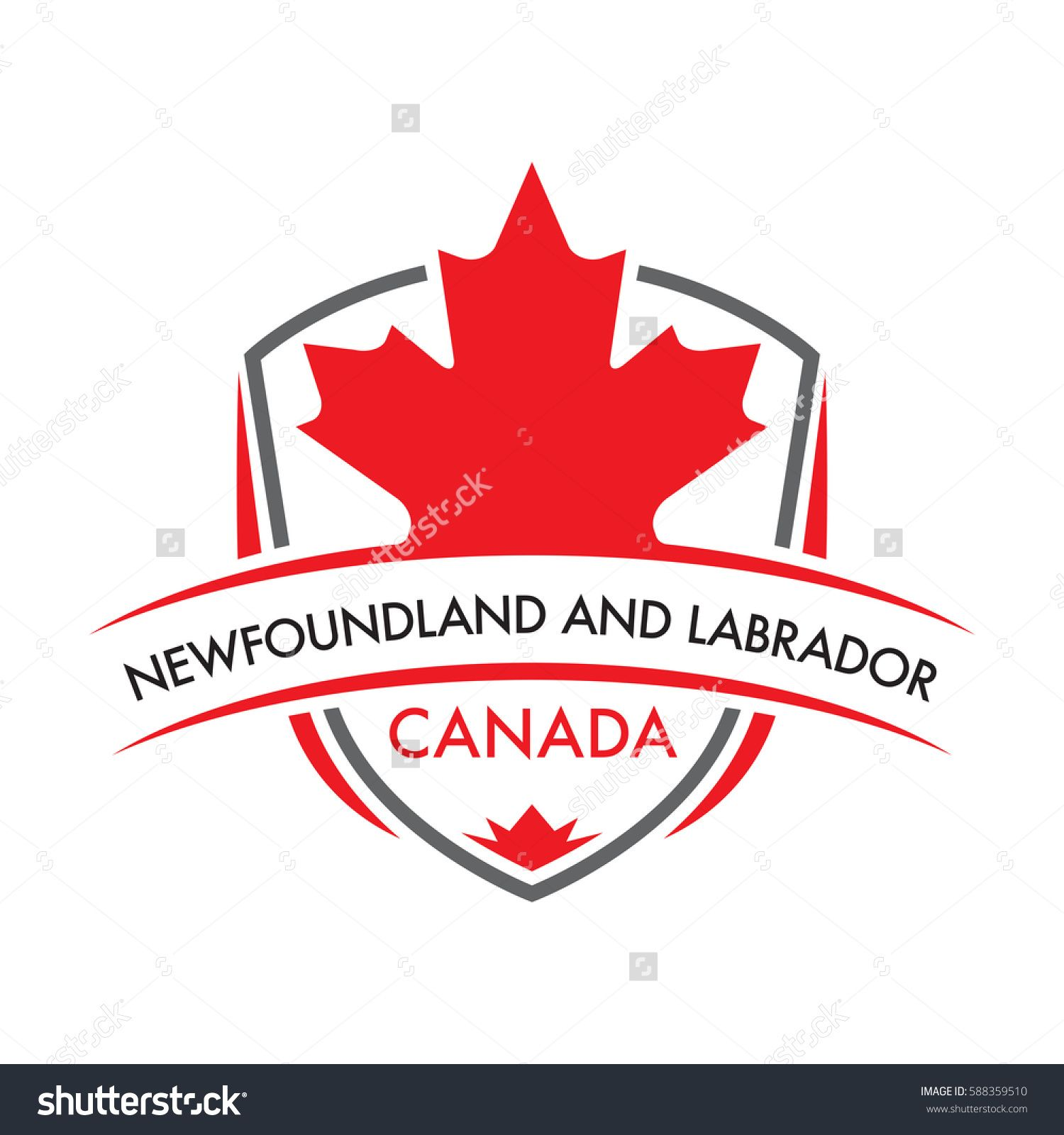 A Canadian province crest in vector format featuring a large