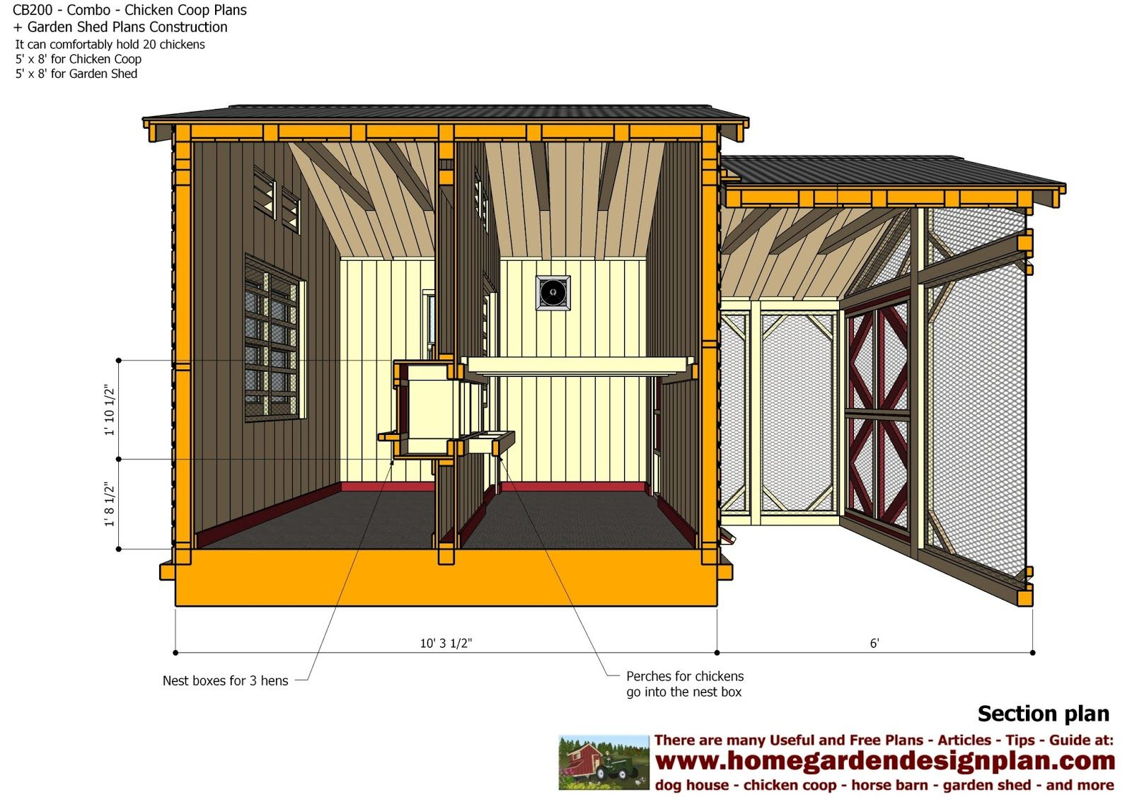 Image result for free chicken coop plans 12 chickens for Plans for a chicken coop for 12 chickens