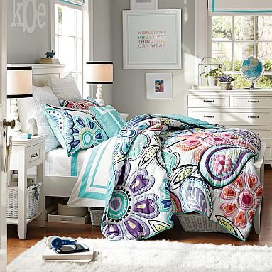 Kennedy Paisley Quilt Sham Colorful Girls Bedroom
