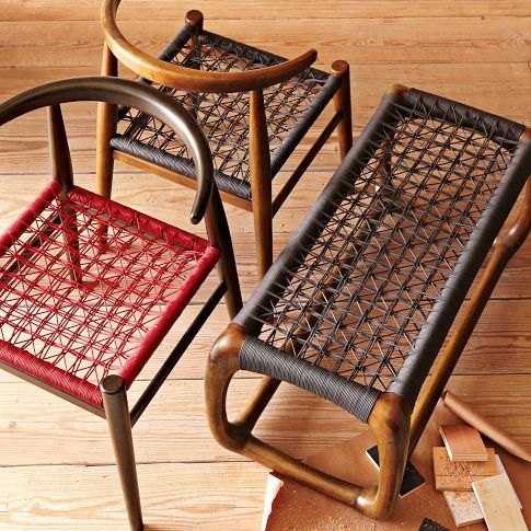 collaboration with South African furniture designer John Vogel, known for his signature webbed seats
