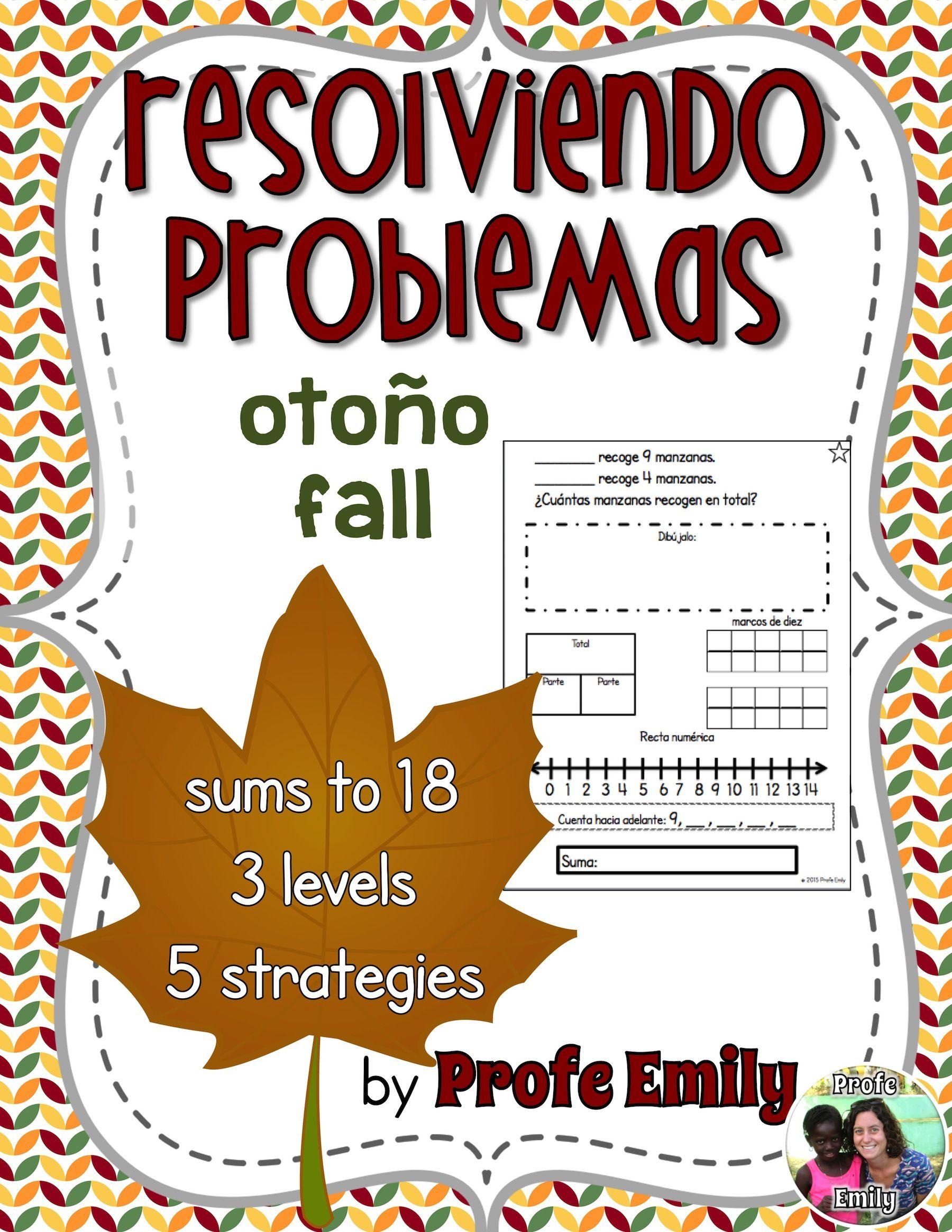 Fall Bilingual Word Problems