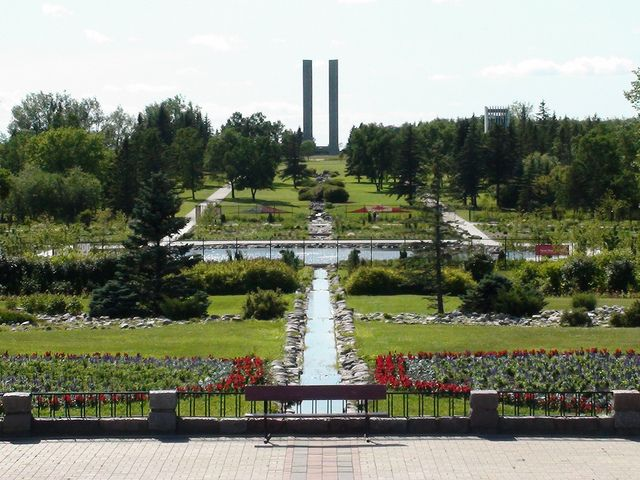 International Peace Garden, North Dakota. This is really close to my husband's reservation!
