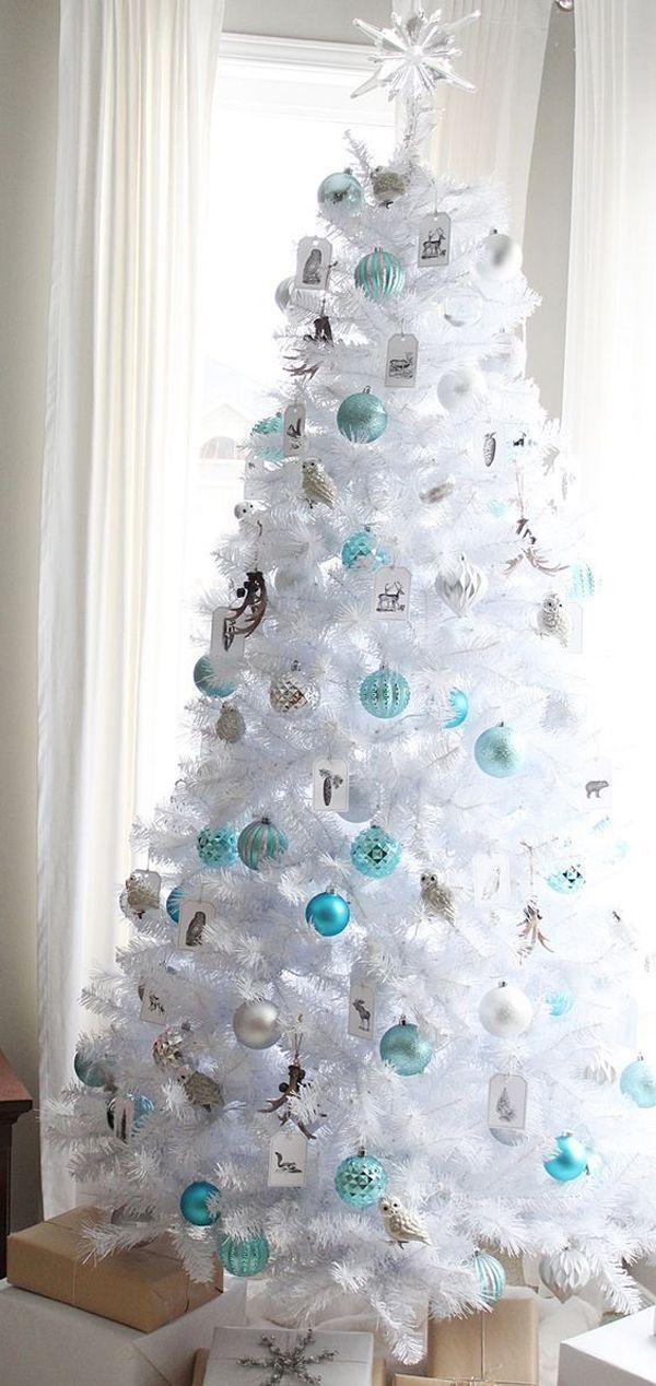 34 Neutral And Vintage White Christmas Tree Ideas White Christmas Tree Decorations White Christmas Trees White Xmas Tree