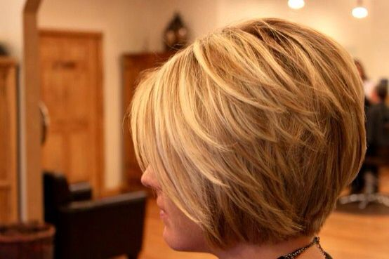 Stacked Bob Hairstyle Extraordinary Love This Stacked Modified Bob  Hair  Pinterest  Bobs Hair