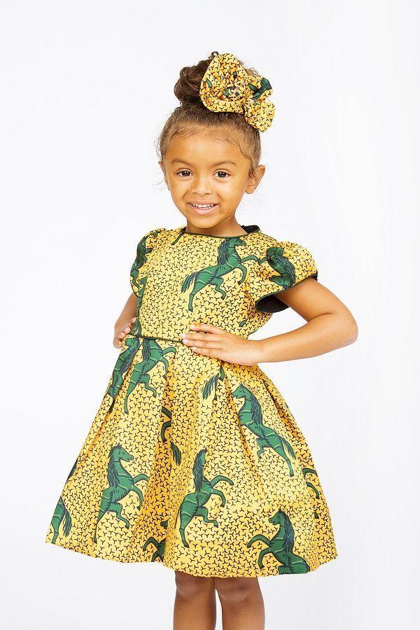 a4eb6564f Check Out The Cutest Ankara Dresses For Kids | Little girls fashion |  Ankara styles for kids, Fashion, Kids fashion
