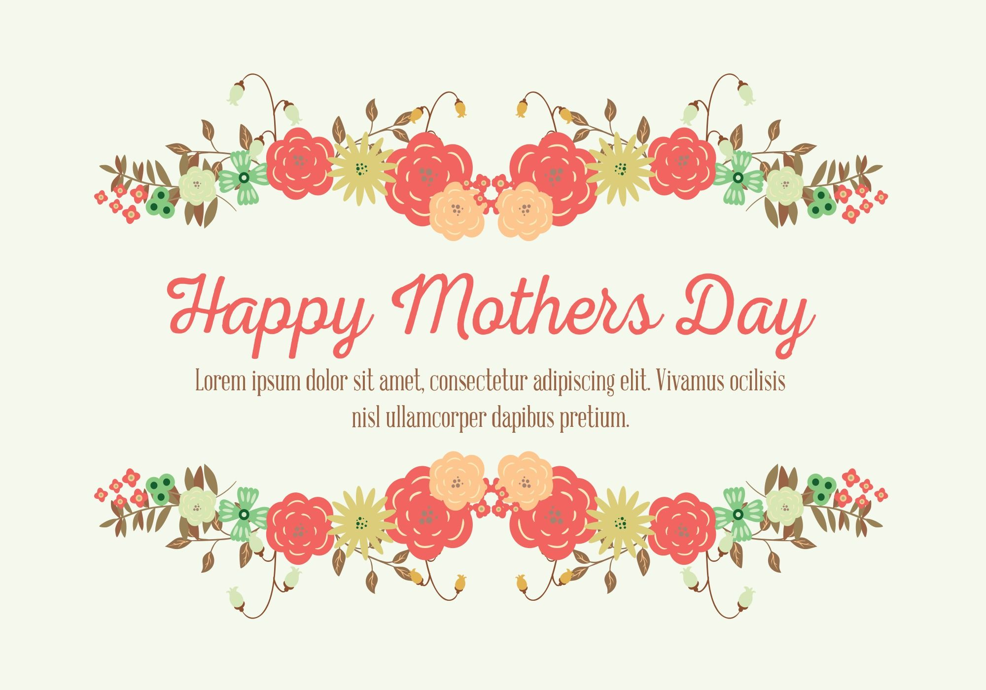 Mother S Day Card Vector Choose From Thousands Of Free Vectors Clip Art Designs Icons And Illustrations Crea Mothers Day Cards Mothersday Cards Sweet Cards