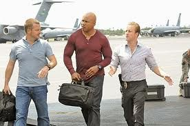 NCIS crossover - Danno meets Callen and Sam as they arrive on a C17 to Hickam Field.