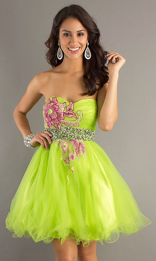 Lime Green Short Prom Dress B Dave And Johnny. Okay, not for my prom ...