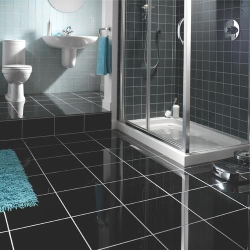 23 Black Sparkle Bathroom Floor Tiles Ideas And Pictures Bathroom Tile Diy Tile Floor Granite Flooring