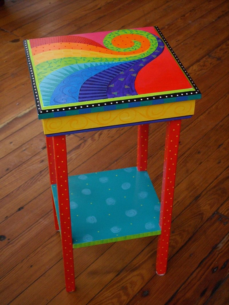 New Art Work Am Designs Furniture Whimsical Painted