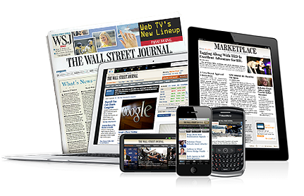 Book An Online Subscription To Wall Street Journal Via A Top Vendor.