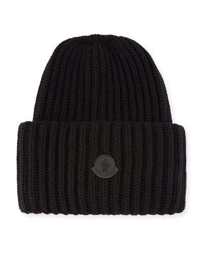 469a38ab1 Men's Oversized Ribbed Logo Beanie Hat | Products | Beanie hats ...