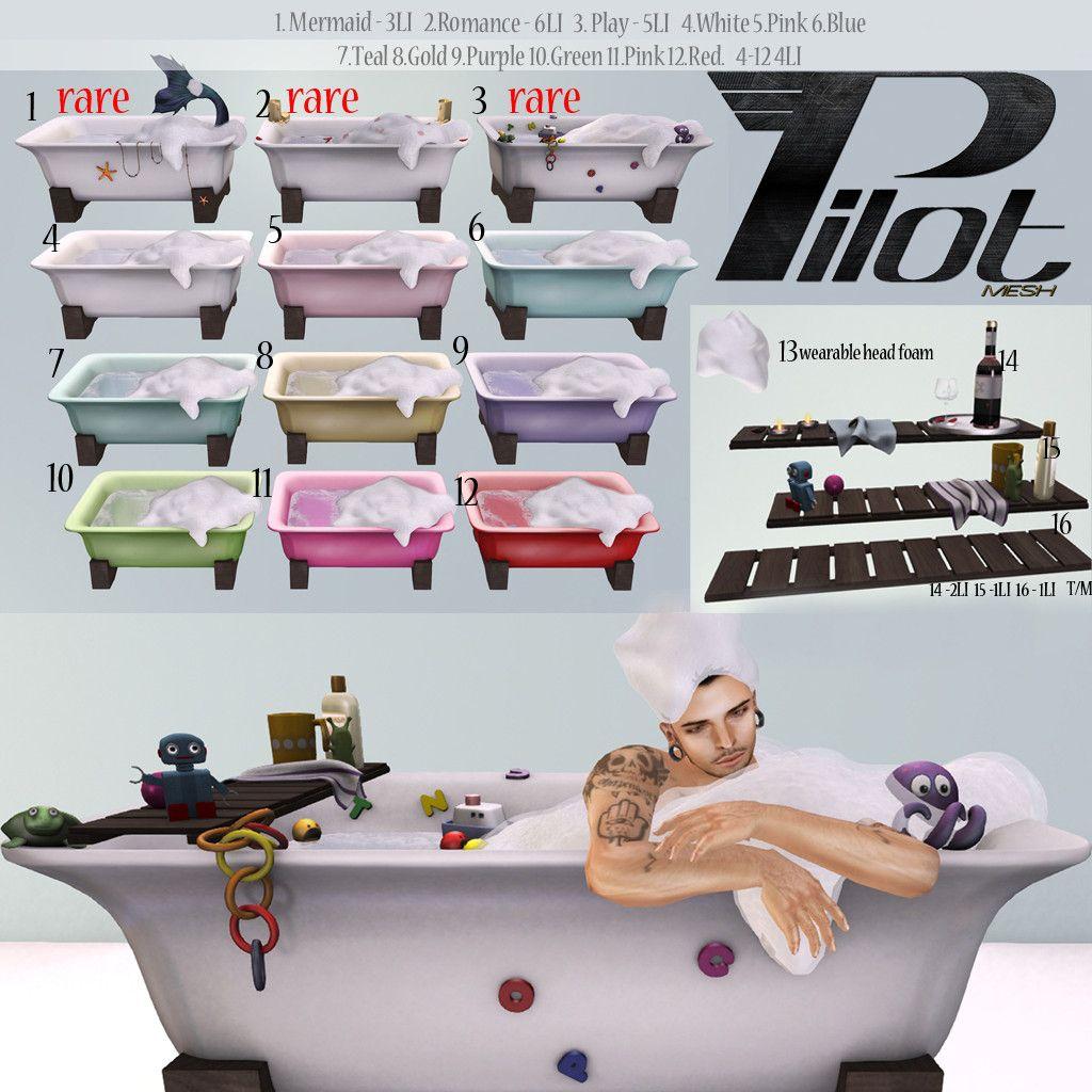 Pilot Bathtime (With images) Pilot, Sims 4, Bath time