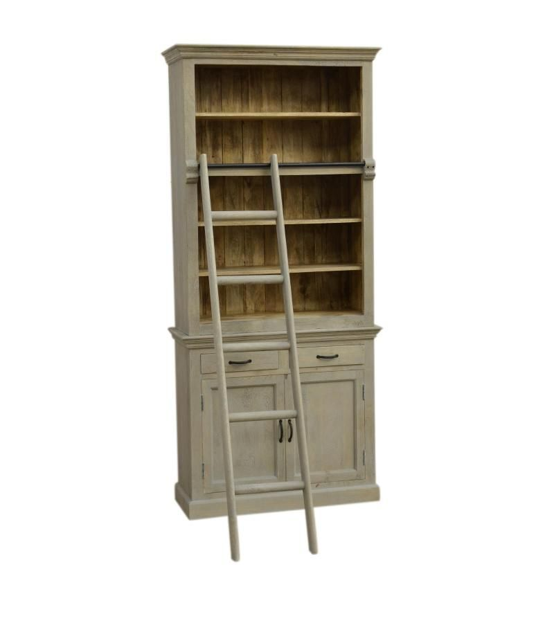 Stairway To Solid Wood Handcrafted Hand Finished Cupboard Book Case Cabinet Ladder Is Real And We Encourage It Be Used For Easy Storage