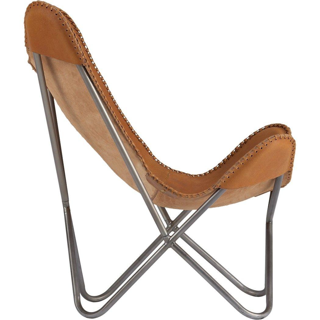 cb2 suede desk chair