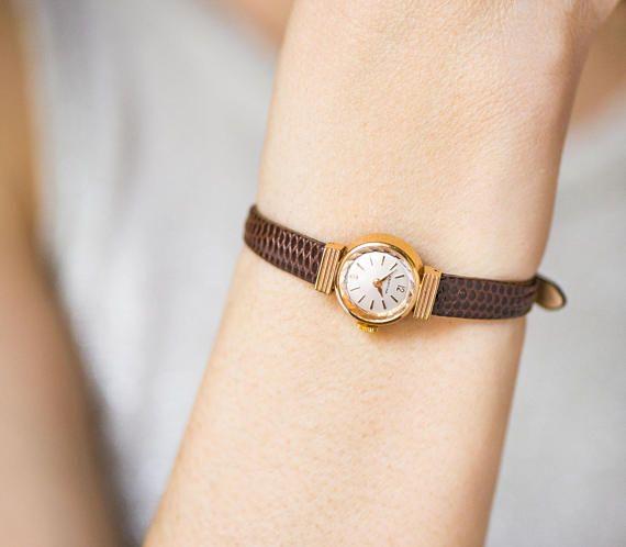 Antique CYMA wristwatch for women, 30s timepiece rectangular watch, Art Deco lady watch small, minimalist watch, new premium leather strap #vintagewatches