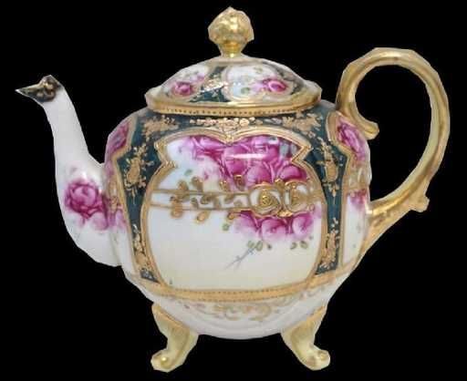Hand Painted Nippon Porcelain Tea Pot Nov 12 2017 Connoisseur Auctions In Sc Tea Pots Tea Pots Vintage Porcelain Teapot