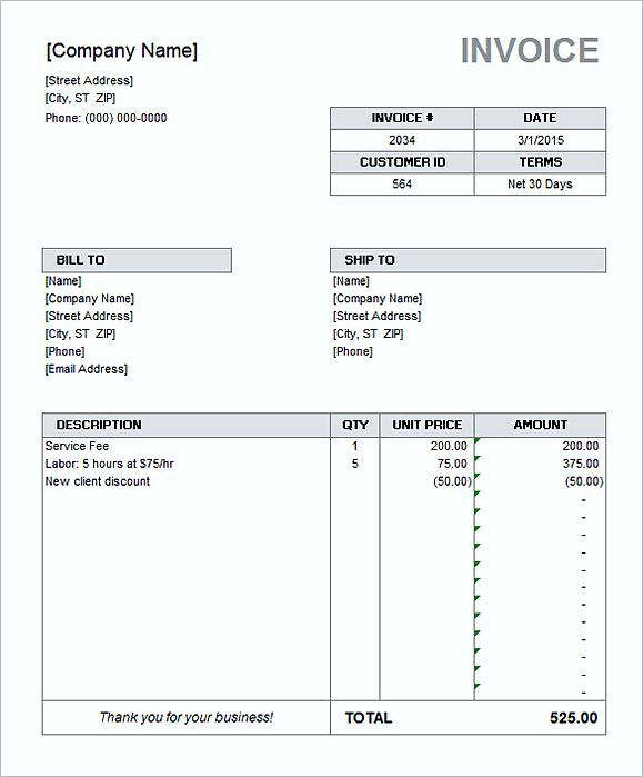 Simple Invoice Template Word  Details Of Simple Invoice Template